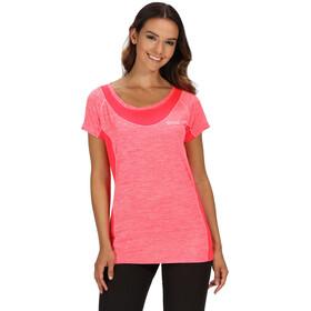 Regatta Breakbar IV Bluzka z krótkim rękawem Kobiety, neon pink/neon pink